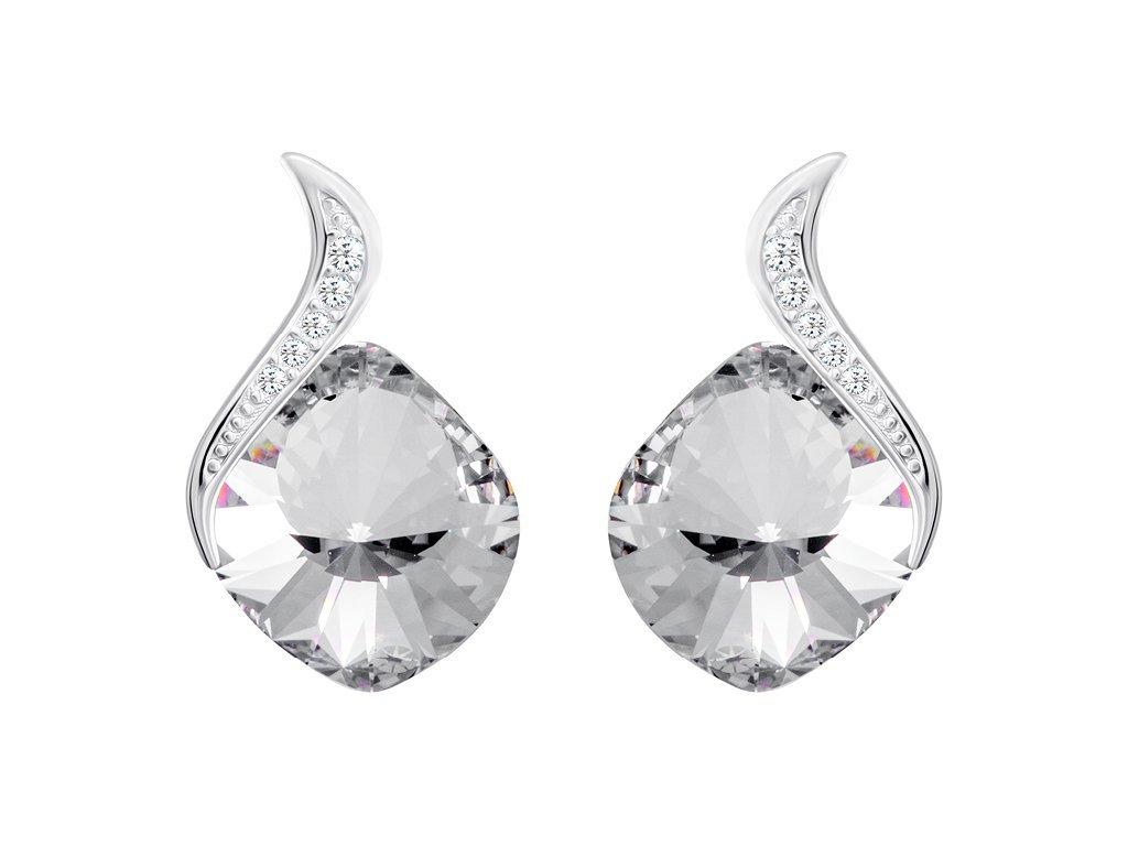 Stříbrné náušnice Butterfly Dream s českým křišťálem Preciosa - krystal