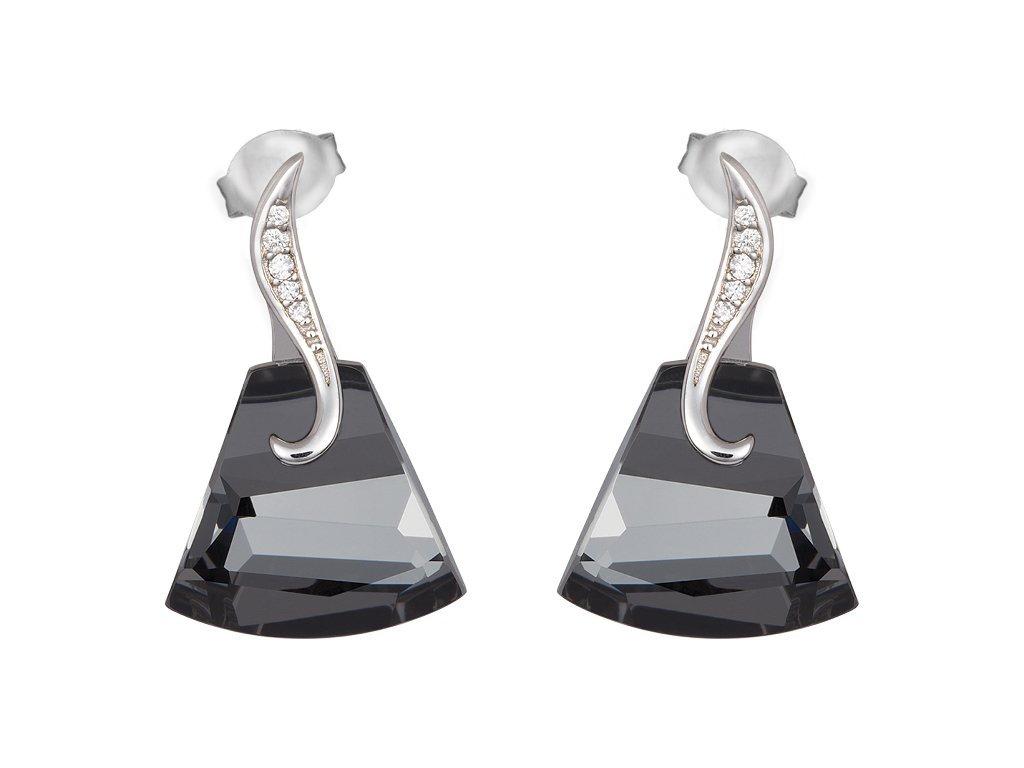 Stříbrné náušnice Crystal Bell s českým křišťálem Preciosa