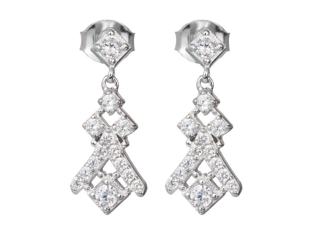 Stříbrné náušnice Crystal Way s českým křišťálem Preciosa