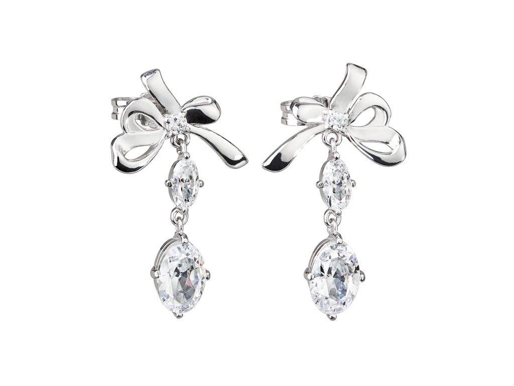 Stříbrné náušnice Royal Jewel by Ogol s kubickou zirkonií Preciosa