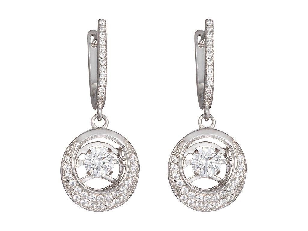 Stříbrné náušnice Shimmer s kubickou zirkonií Preciosa 5185 00