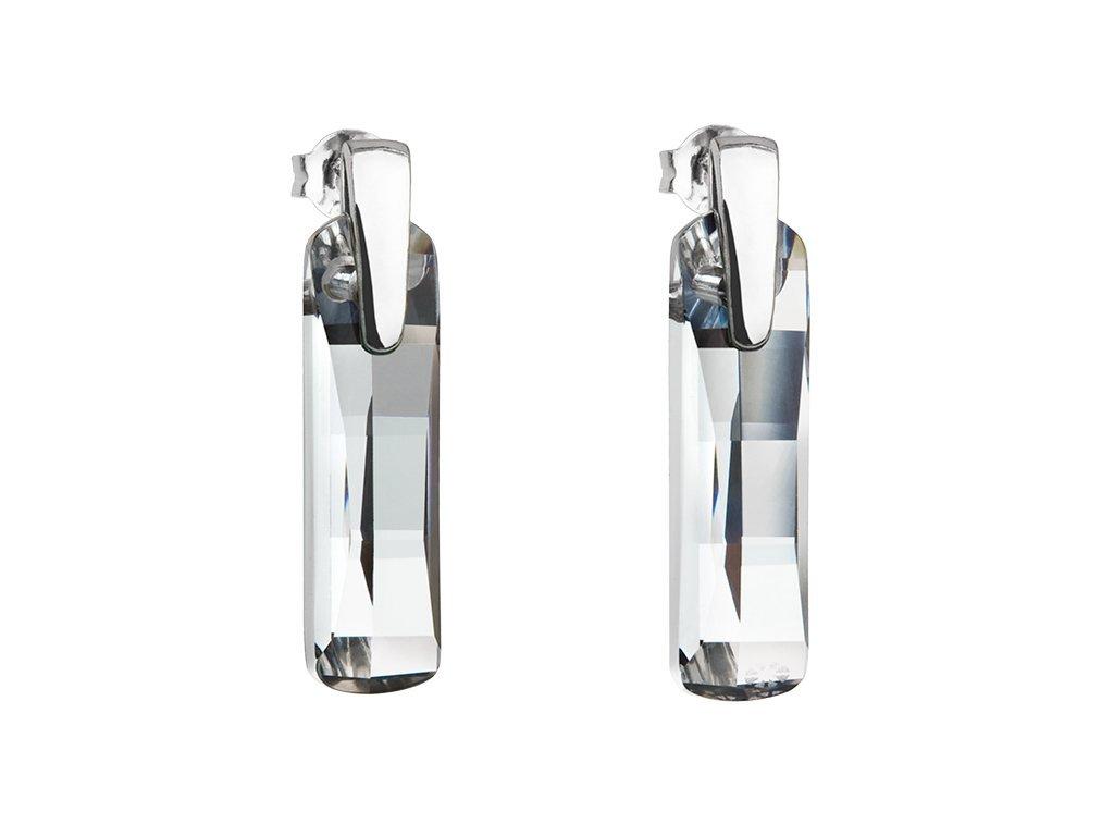 Stříbrné náušnice Shining Strip s českým křišťálem Preciosa - krystal