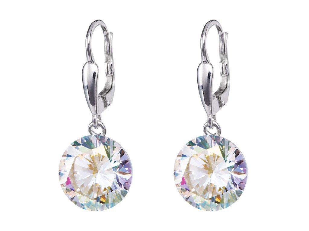 Stříbrné náušnice Starry s kubickou zirkonií Preciosa, krystal 5173 00