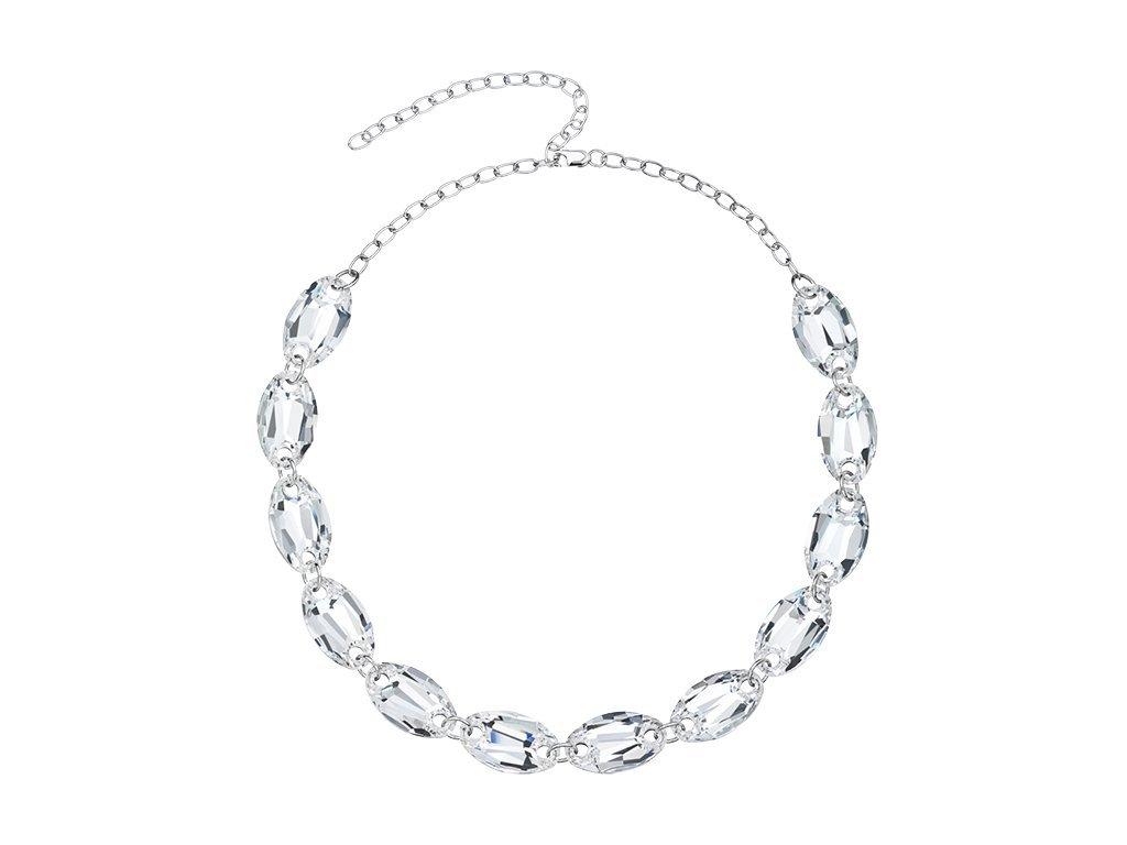 Stříbrný náhrdelník Elegancy s křišťálem Preciosa