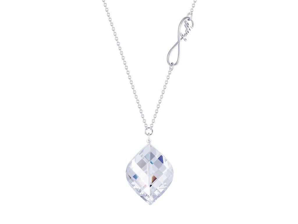 Stříbrný náhrdelník Faith s křišťálem Preciosa - krystal