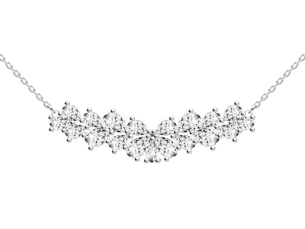 Stříbrný náhrdelník Libra s kubickou zirkonií Preciosa 5244 00
