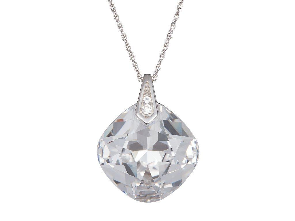 Stříbrný přívěsek Brilliant Rose s českým křišťálem Preciosa - krystal
