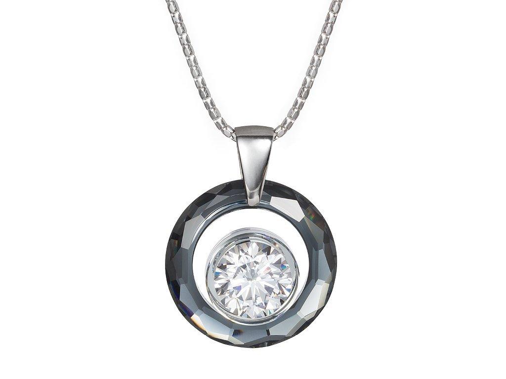 Stříbrný přívěsek Brilliant Star by Veru s českým křišťálem a kubickou zirkonií Preciosa