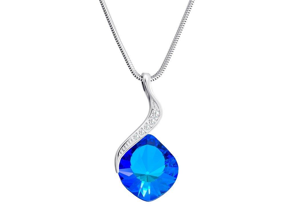 Stříbrný přívěsek Butterfly Dream s českým křišťálem Preciosa - modrý