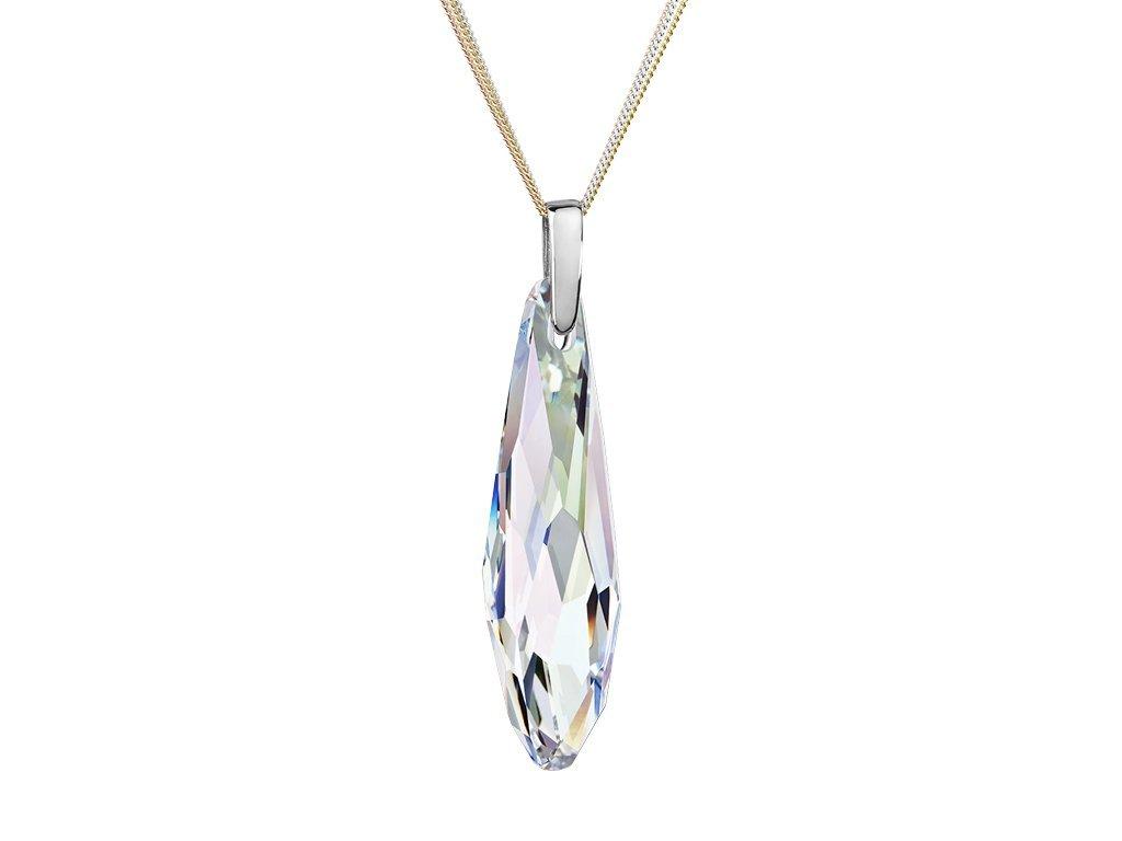 Stříbrný přívěsek Chiqué s českým křišťálem Preciosa - krystal