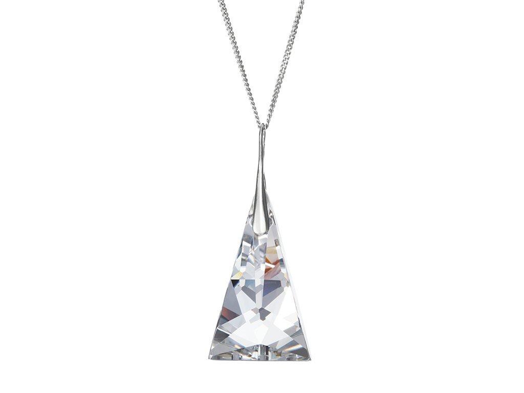 Stříbrný přívěsek Crystal Pyramid s českým křišťálem Preciosa