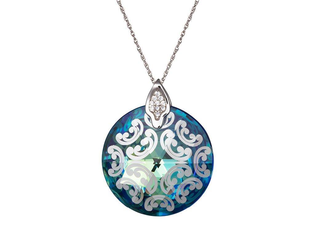 Stříbrný přívěsek Crystal Rose I - bermuda blue