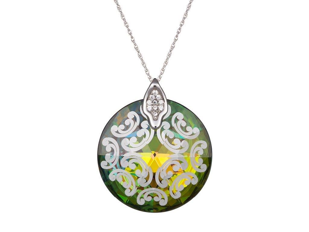 Stříbrný přívěsek Crystal Rose I - vitrail medium