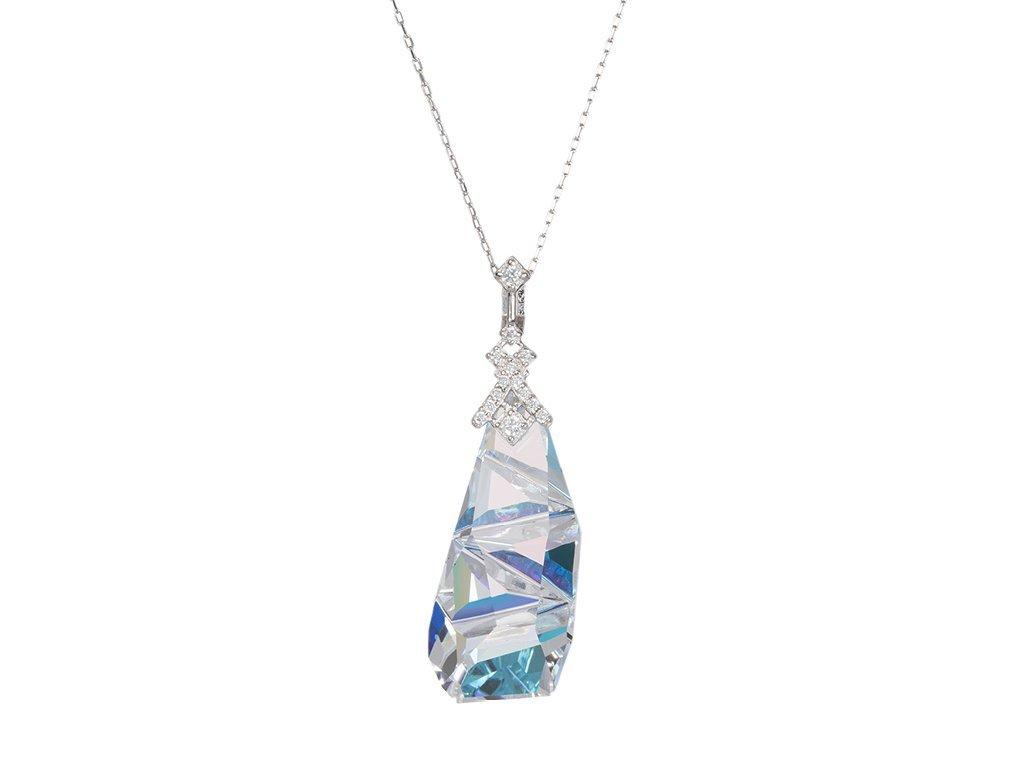 Stříbrný přívěsek Crystal Way s českým křišťálem Preciosa