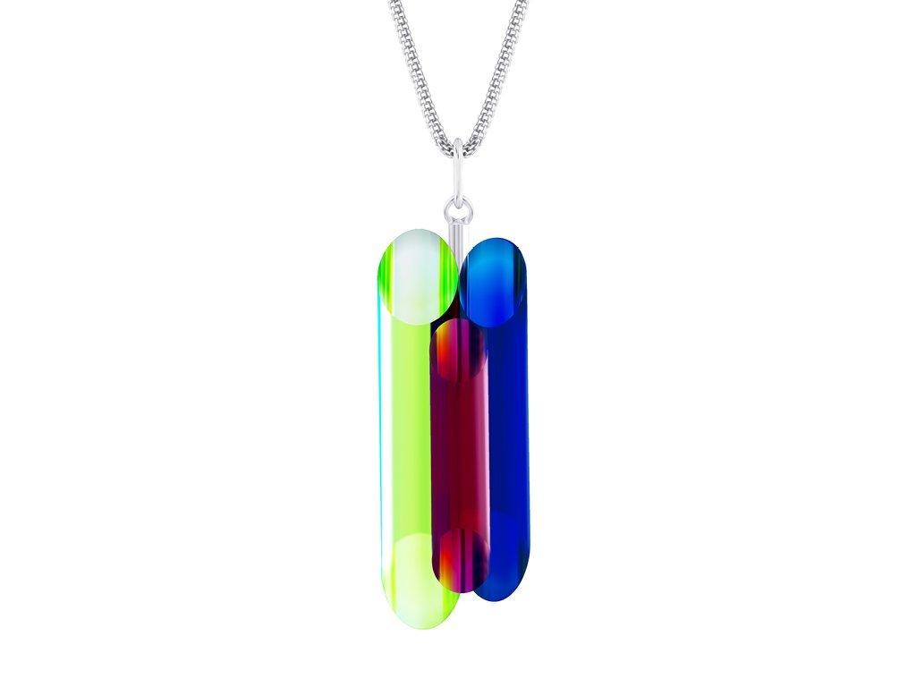 Stříbrný přívěsek Neon Collection by Veronica s českým křišťálem Preciosa