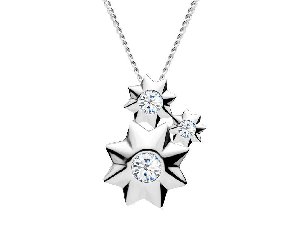 Stříbrný přívěsek Orion s kubickou zirkonií Preciosa 5245 00