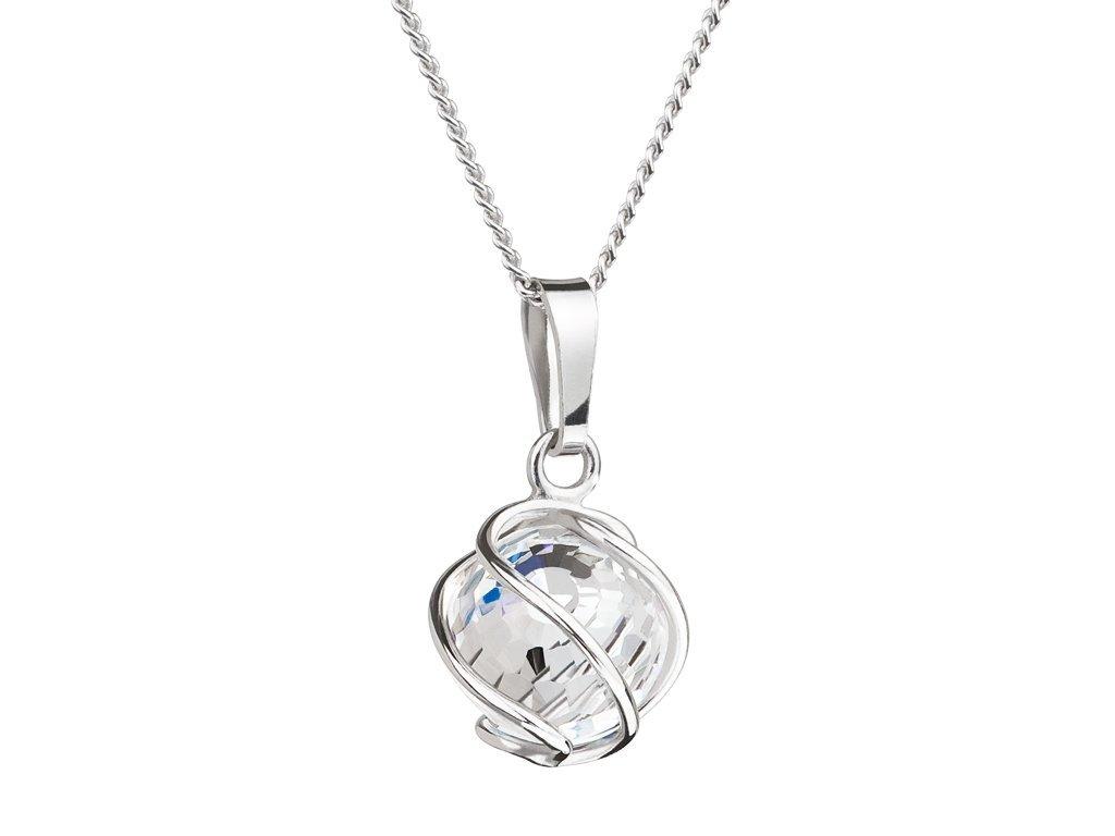 Stříbrný přívěsek Romantic Beads s českým křišťálem Preciosa