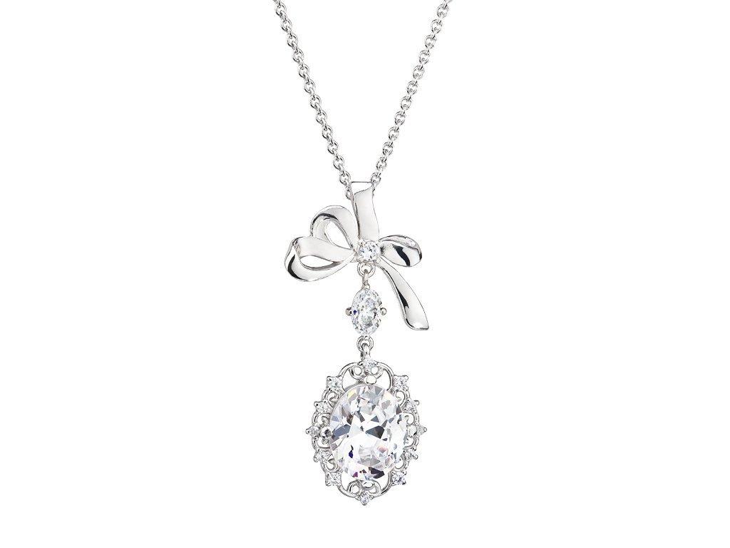 Stříbrný přívěsek Royal Jewel by Ogol s českým křišťálem a kubickou zirkonií Preciosa