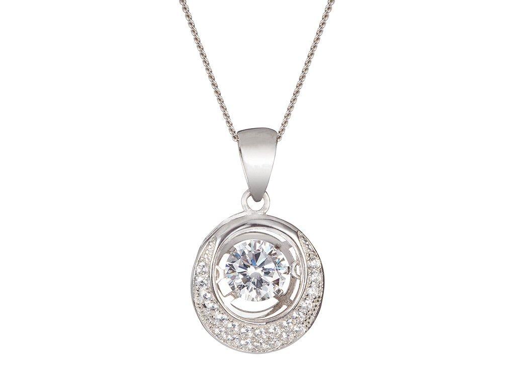 Stříbrný přívěsek Shimmer s kubickou zirkonií Preciosa 5184 00L