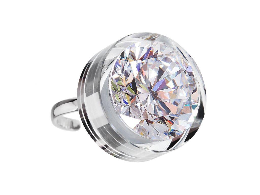 Stříbrný prsten Brilliant Star s kubickou zirkonií Preciosa - bílý