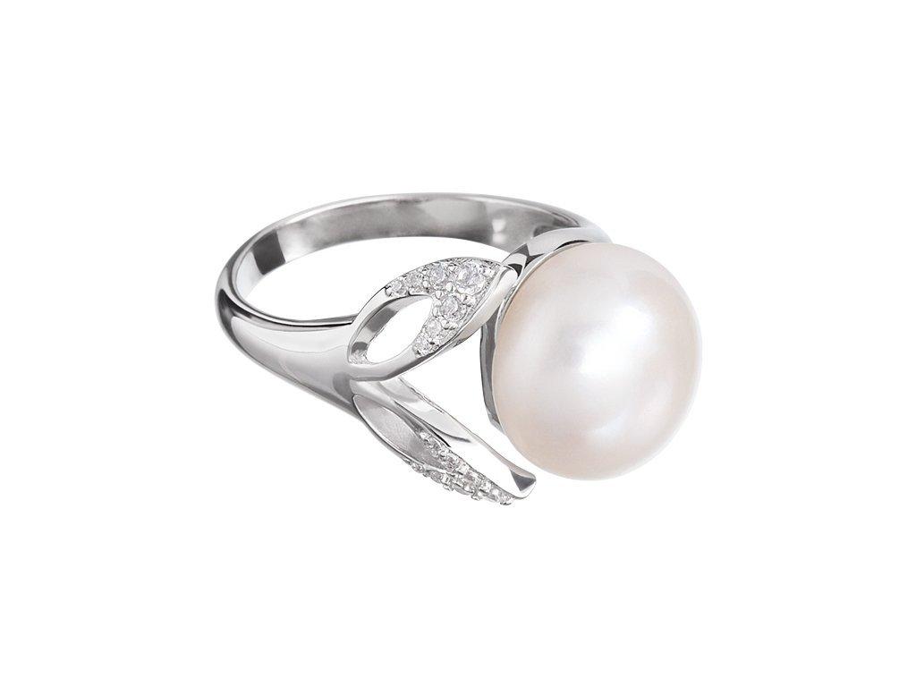 Stříbrný prsten Cleopatra's Secret s pravou říční perlou Preciosa