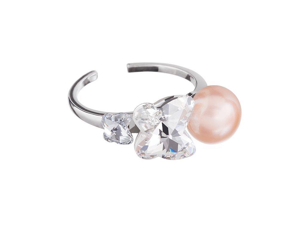 Stříbrný prsten Gentle Passion s pravou říční perlou Preciosa