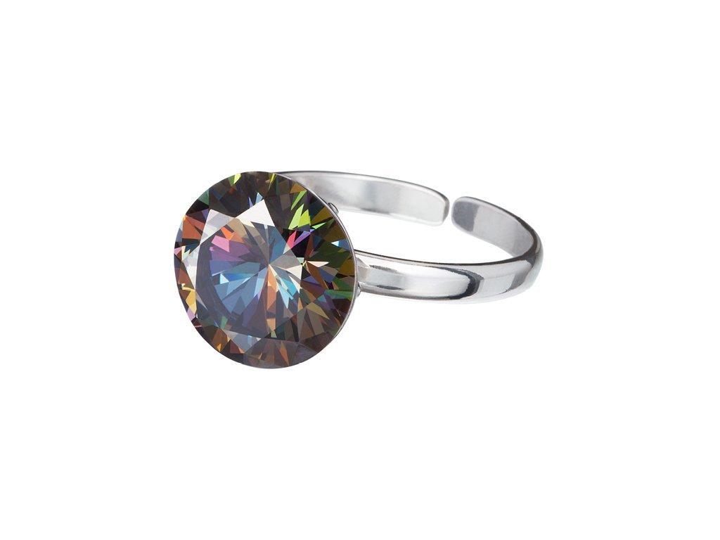 Stříbrný prsten Starry s kubickou zirkonií Preciosa - kombi