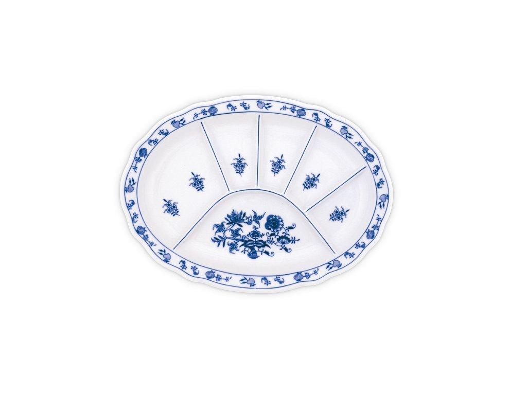 Talíř dělený - cibulový porcelán 10447