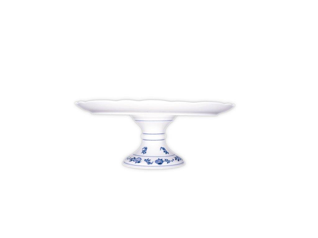 Talíř dortový na noze - cibulový porcelán 70044