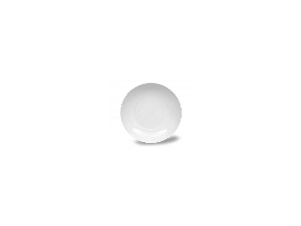 Talíř hluboký, Thun 1794, karlovarský porcelán, TOM bílý, nedekorovaný průměr 20cm
