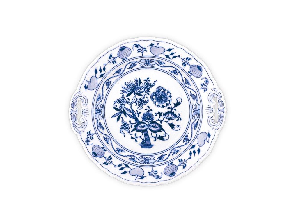 Talíř koláčový s uchy - cibulový porcelán 10042