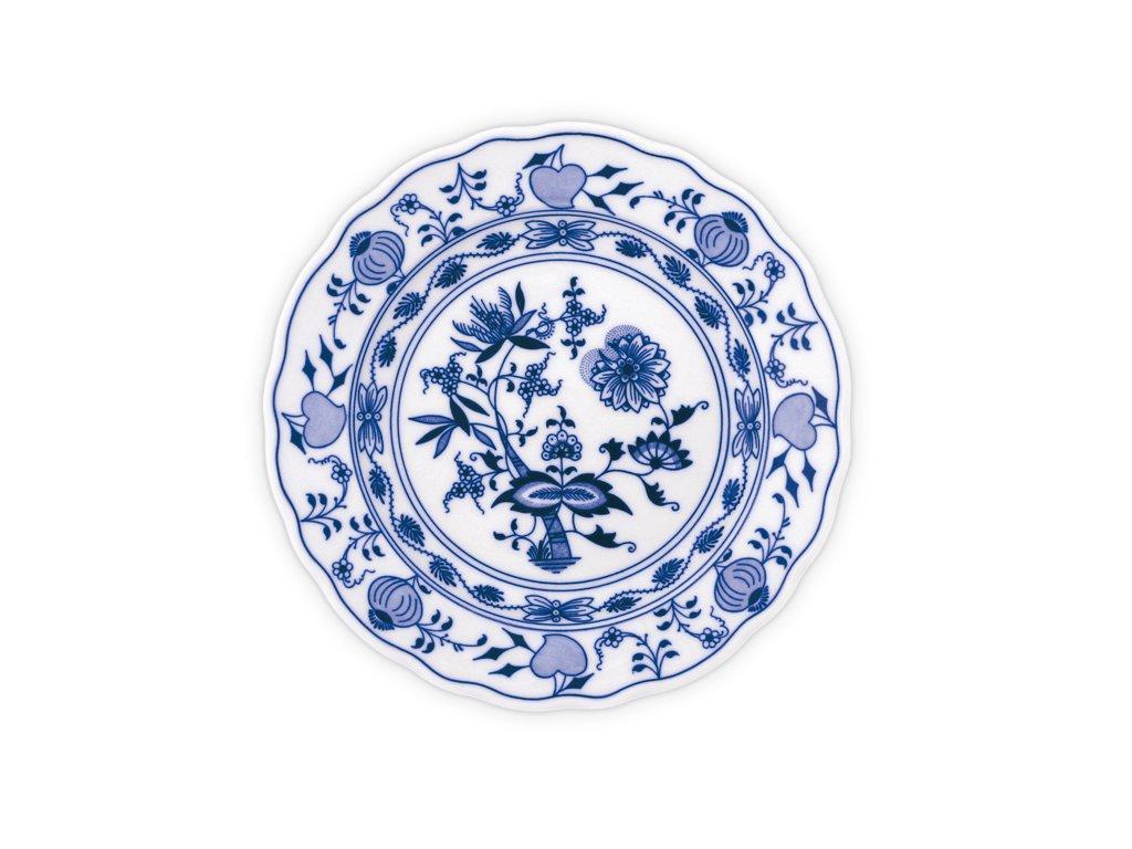Talíř mělký praporový 21cm - cibulový porcelán 10003 AKCE