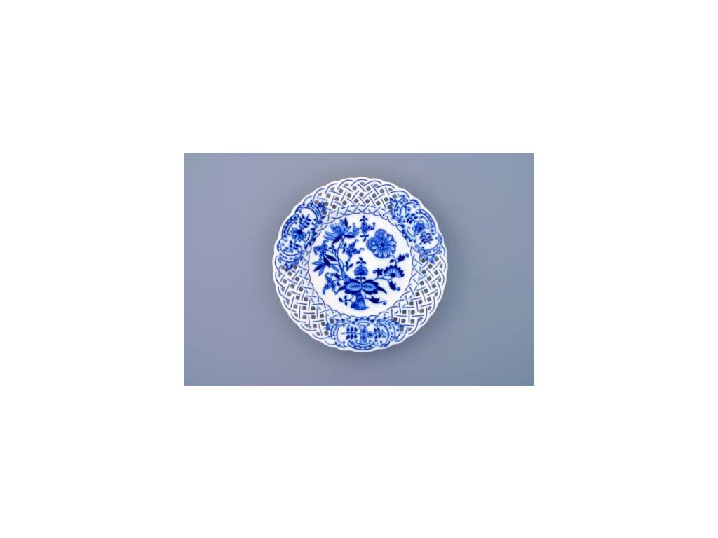 Talíř prolamovaný - cibulový porcelán 10152