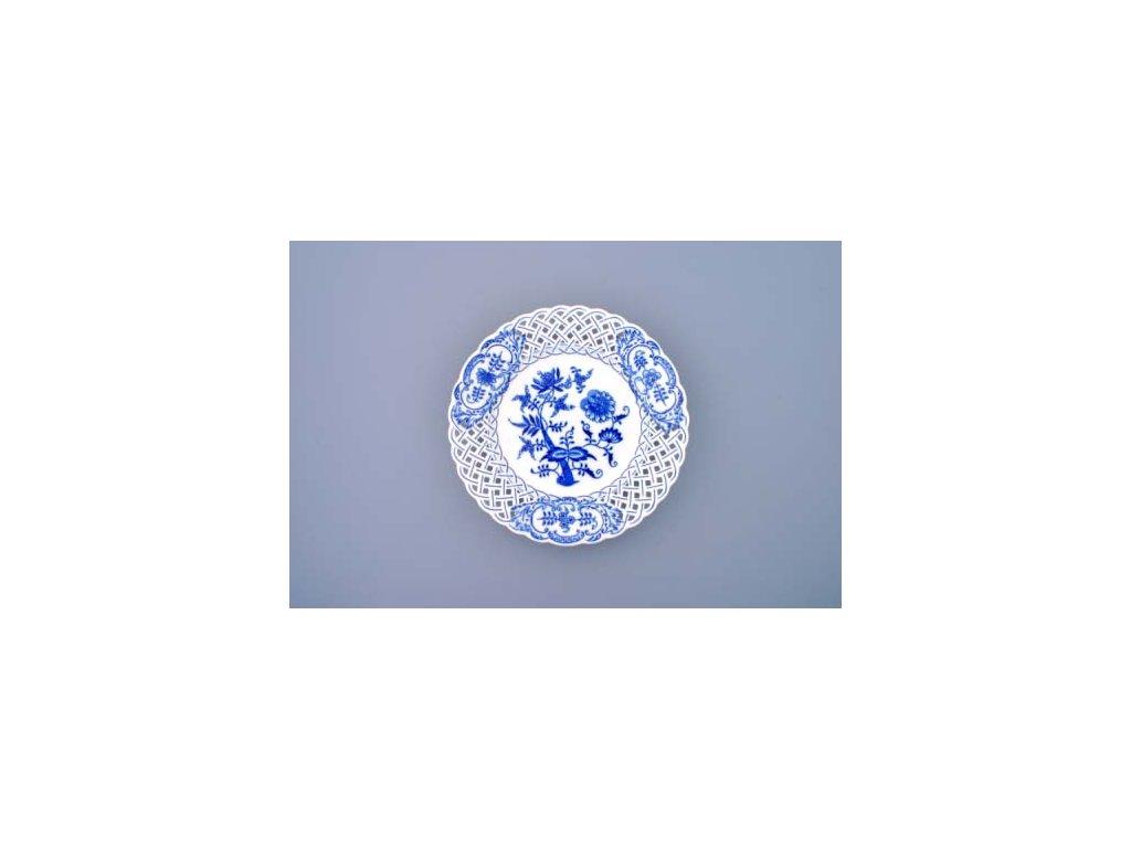 Talíř prolamovaný - cibulový porcelán 10153