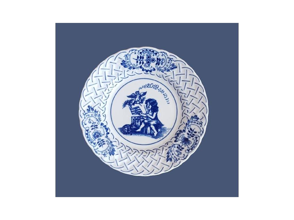 Talíř výroční 2019 - cibulový porcelán10432/19