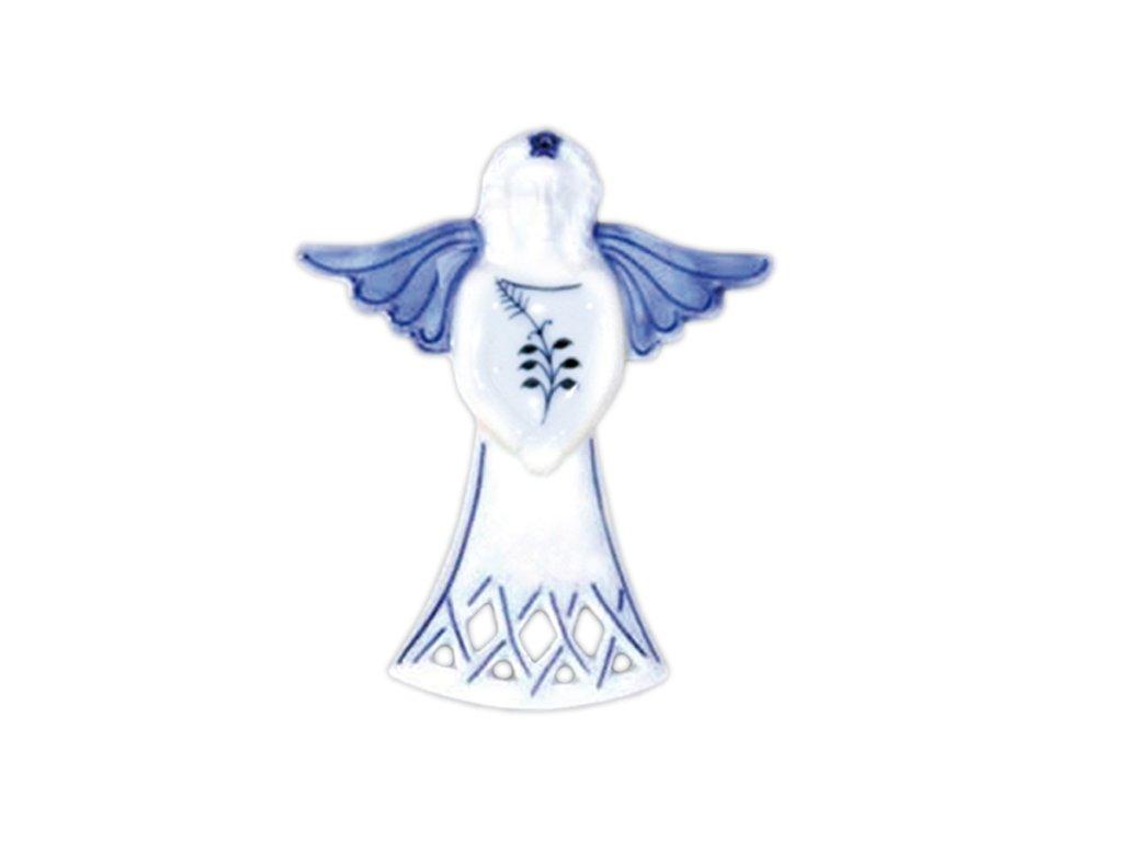 Vánoční ozdoba - anděl - cibulový porcelán 10606