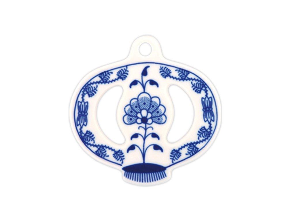 Vánoční ozdoba - jablíčko - cibulový porcelán 10380