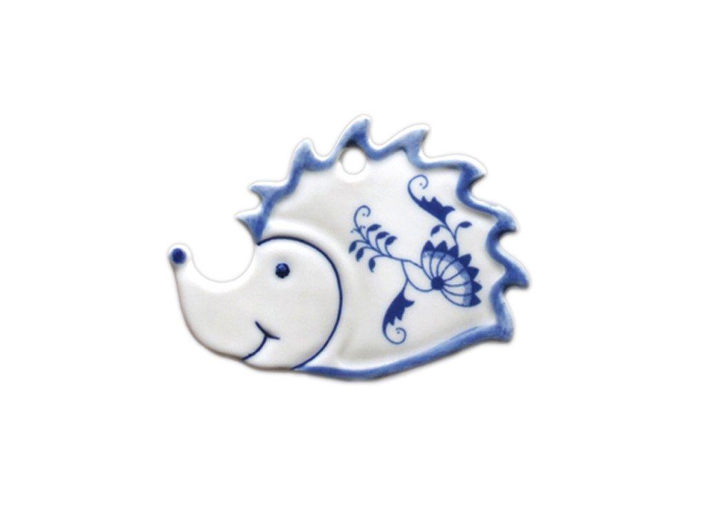Vánoční ozdoba - ježek - cibulový porcelán 10162
