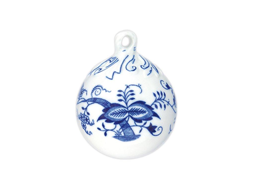 Vánoční ozdoba - koule - cibulový porcelán 10293