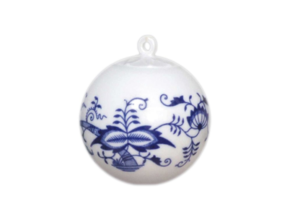 Vánoční ozdoba - koule malá C1 - cibulový porcelán 10635