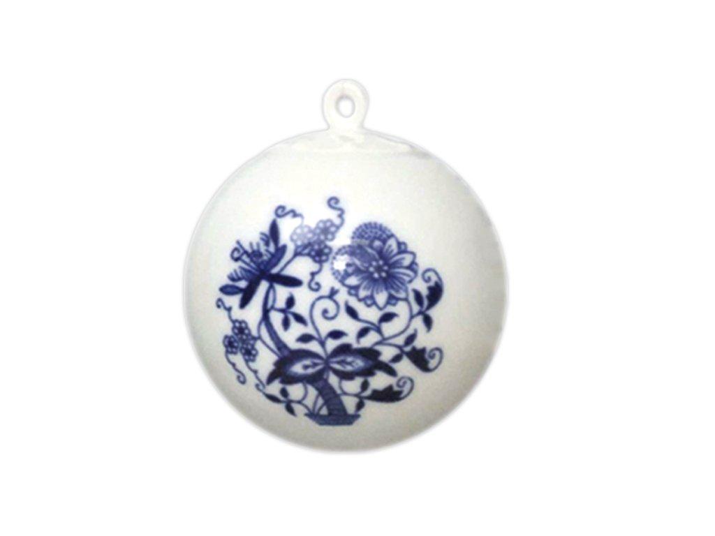Vánoční ozdoba - koule malá C65 - cibulový porcelán 10635