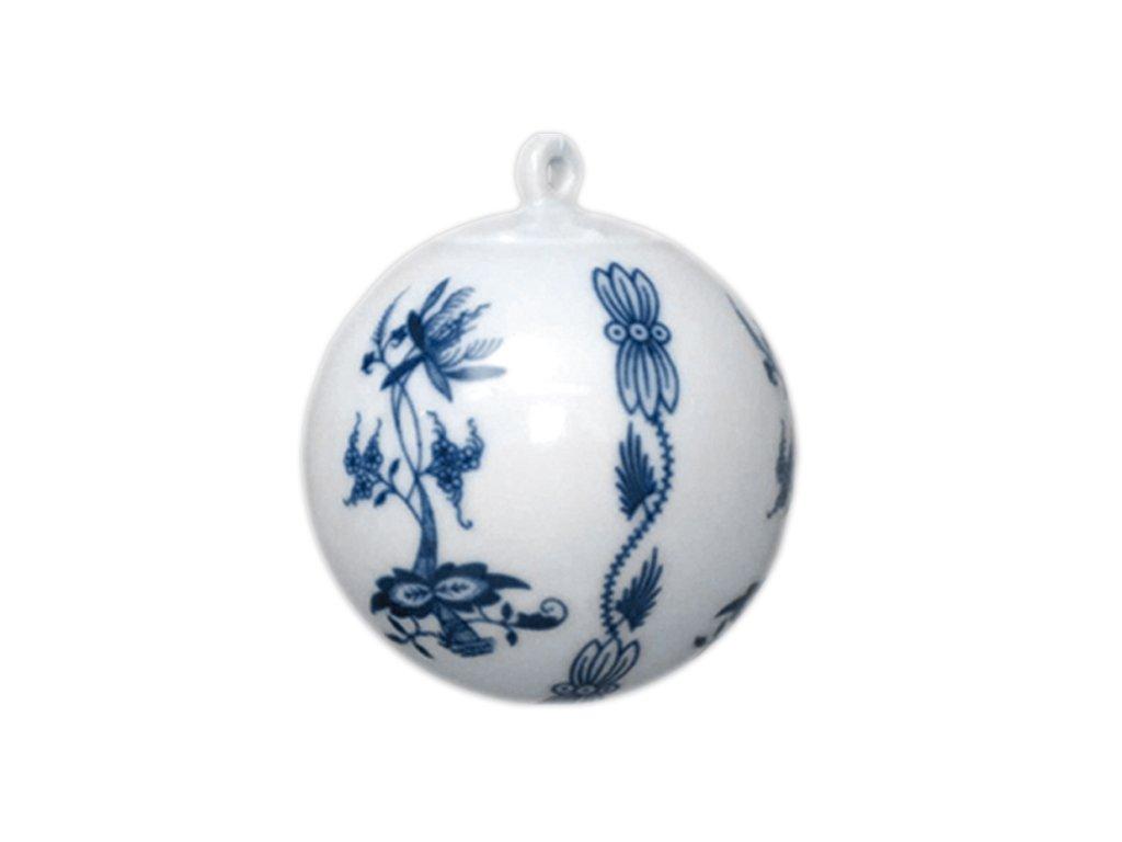 Vánoční ozdoba - koule malá C66 - cibulový porcelán 10635