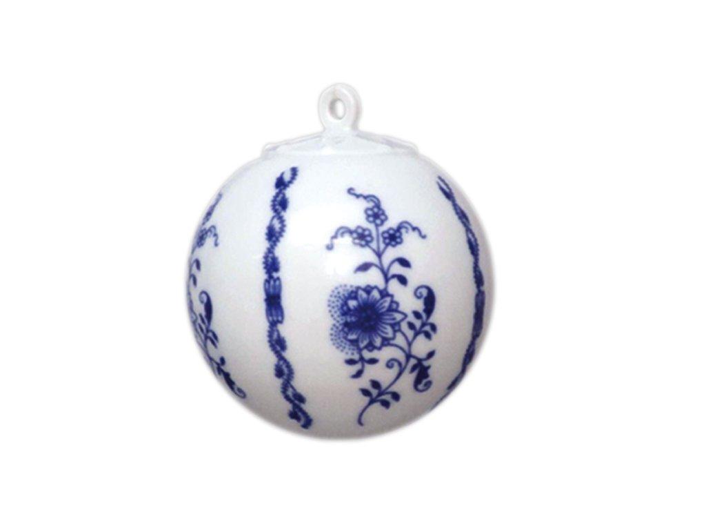 Vánoční ozdoba - koule malá C67 - cibulový porcelán 10635
