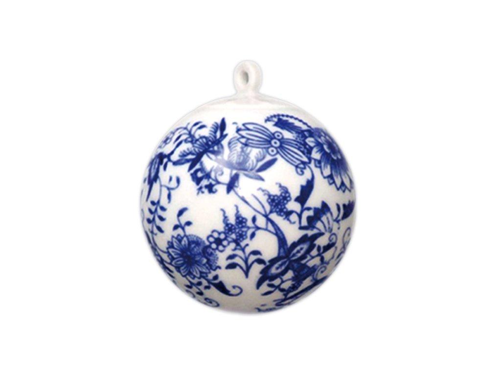 Vánoční ozdoba - koule malá C69 - cibulový porcelán 10635