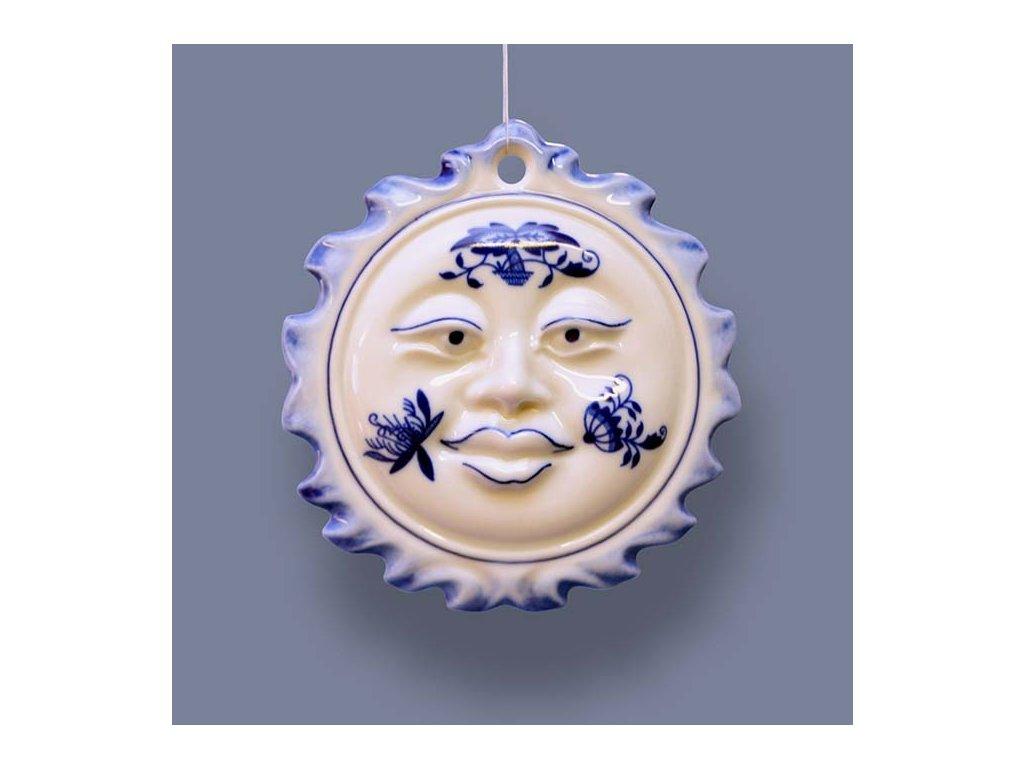 Vánoční ozdoba - sluníčko oboustranné - cibulový porcelán 10622