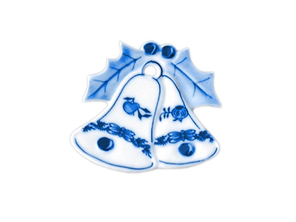 Vánoční ozdoba - zvonky - cibulový porcelán 10658