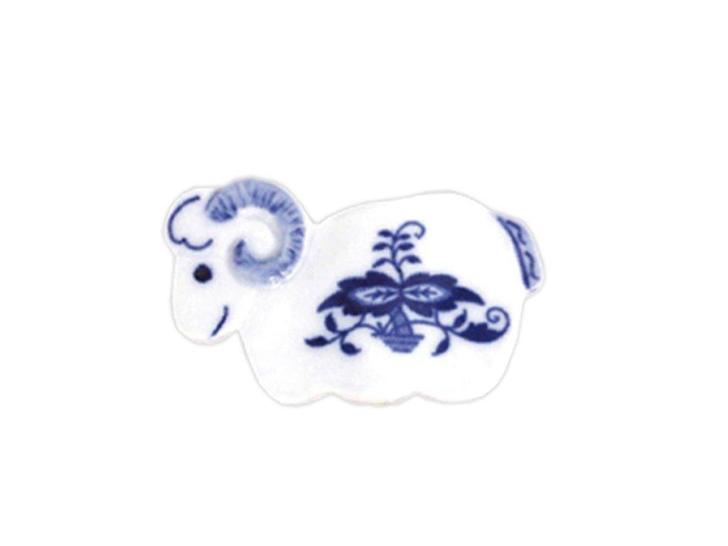 Velikonoční ozdoba - beránek - zápich - cibulový porcelán 70677