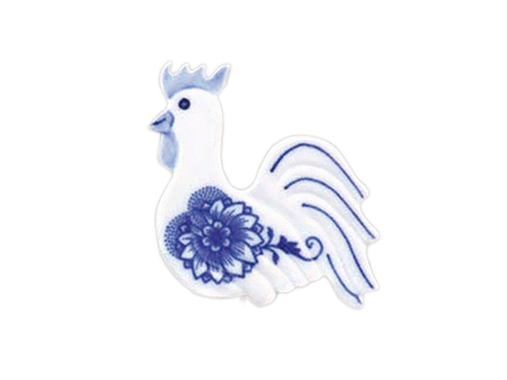 Velikonoční ozdoba - kohoutek - zápich - cibulový porcelán
