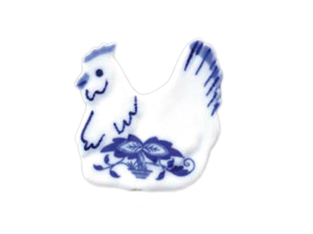 Velikonoční ozdoba - slepička -zápich - cibulový porcelán 70704