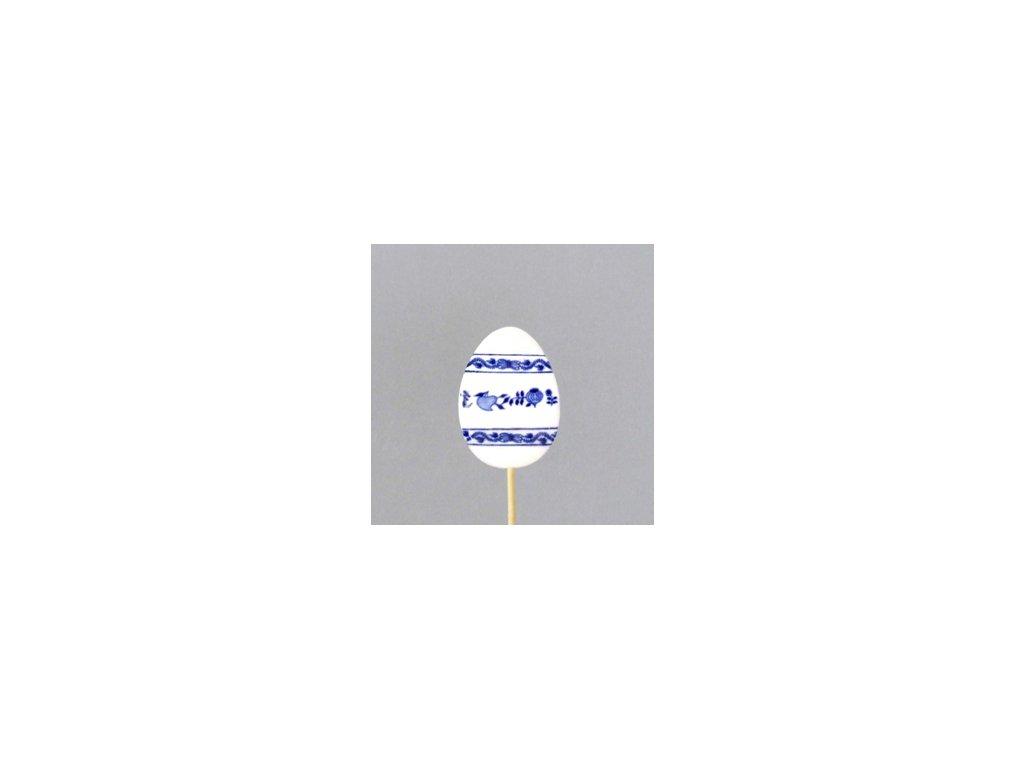 Velikonoční ozdoba - vajíčko - zápich - cibulový porcelán 70650 / 00073